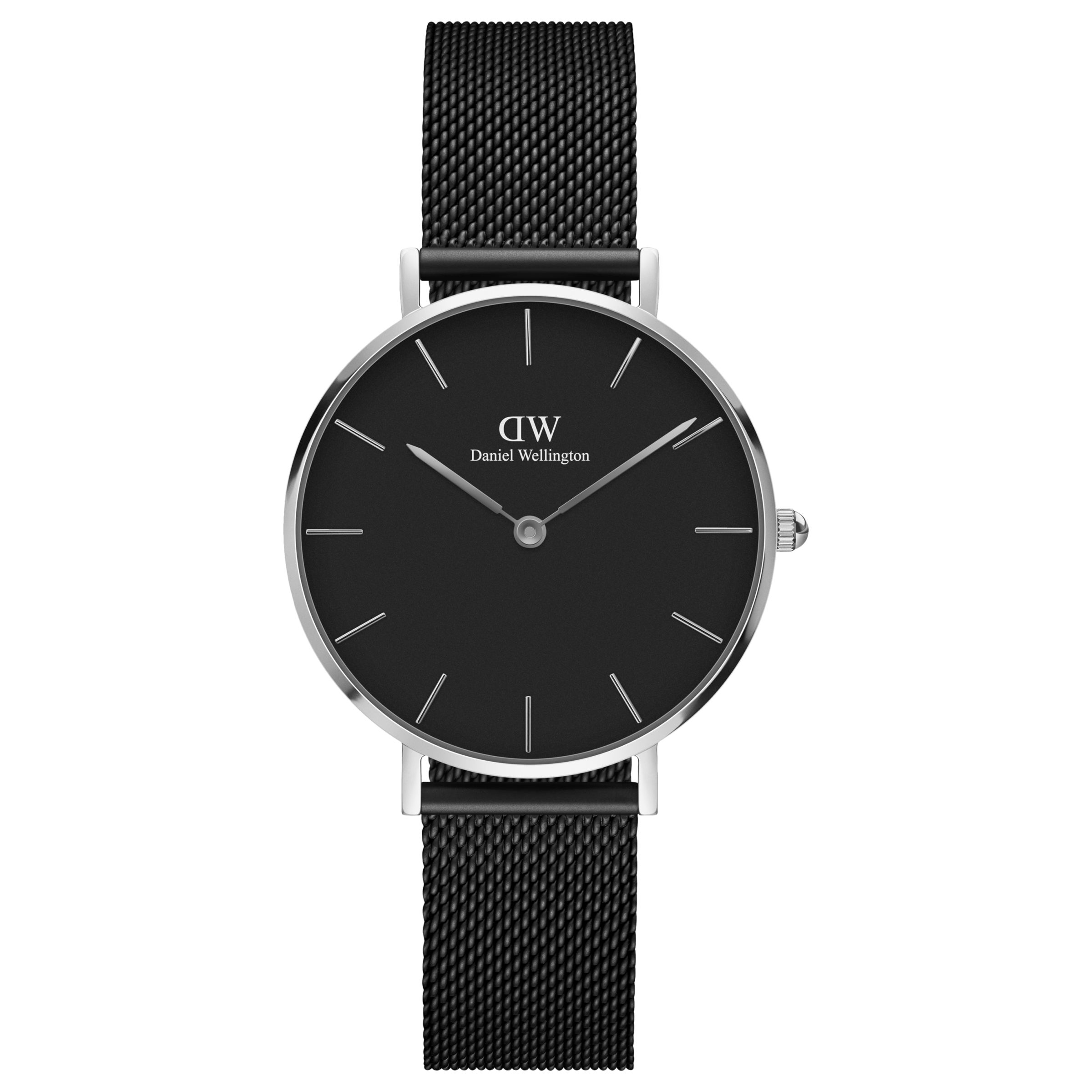 Daniel Wellington Daniel Wellington Women's 32mm Classic Petite Ashfield Mesh Bracelet Strap Watch