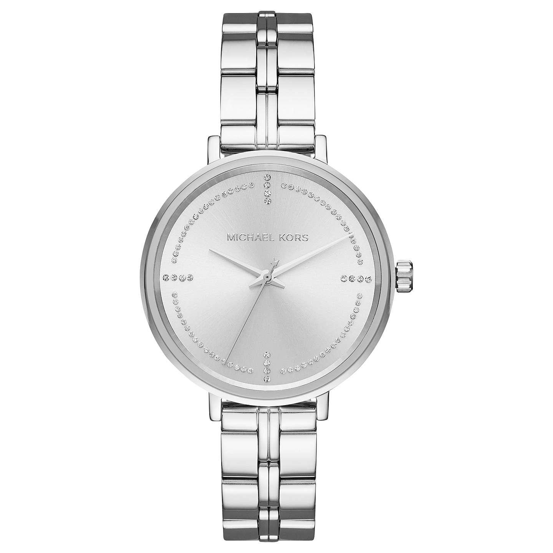 Michael Kors Mk3791 Women S Bridgette Bracelet Strap Watch Silver Online At Johnlewis