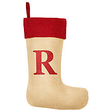 Buy The Handmade Christmas Co. Personalised Christmas Stocking, Glitter Natural Online at johnlewis.com