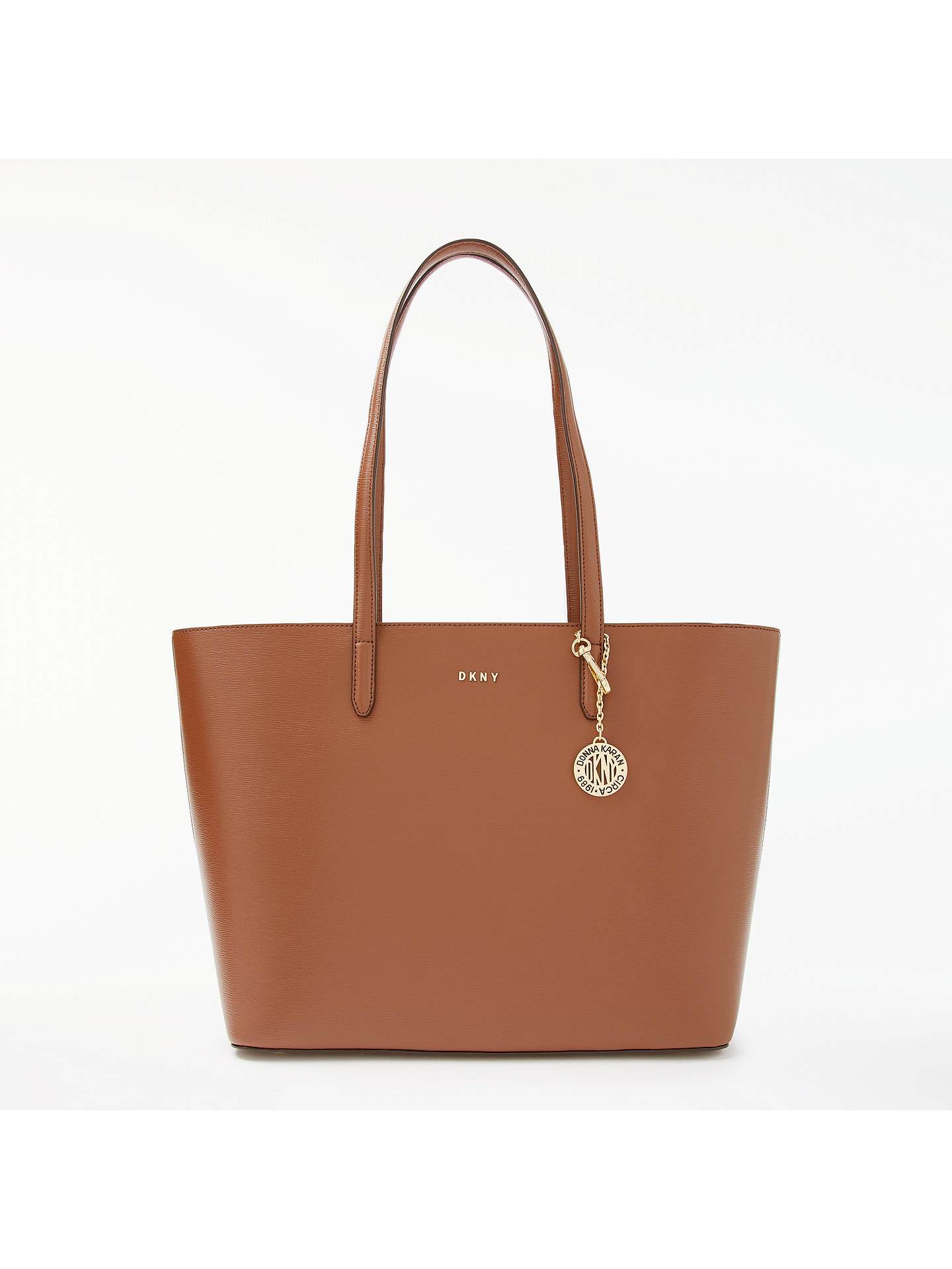c8afd049d Buy DKNY Sutton Leather Large Tote Bag, Brown Online at johnlewis.com ...