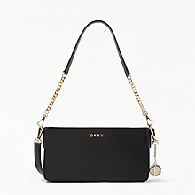Buy DKNY Sutton Leather Small Cross Body Bag, Black Online at johnlewis.com