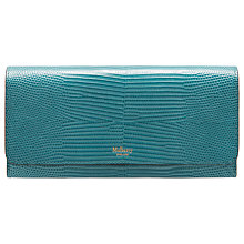 Buy Mulberry Continental Embossed Lizard Leather Purse, Frozen Online at johnlewis.com