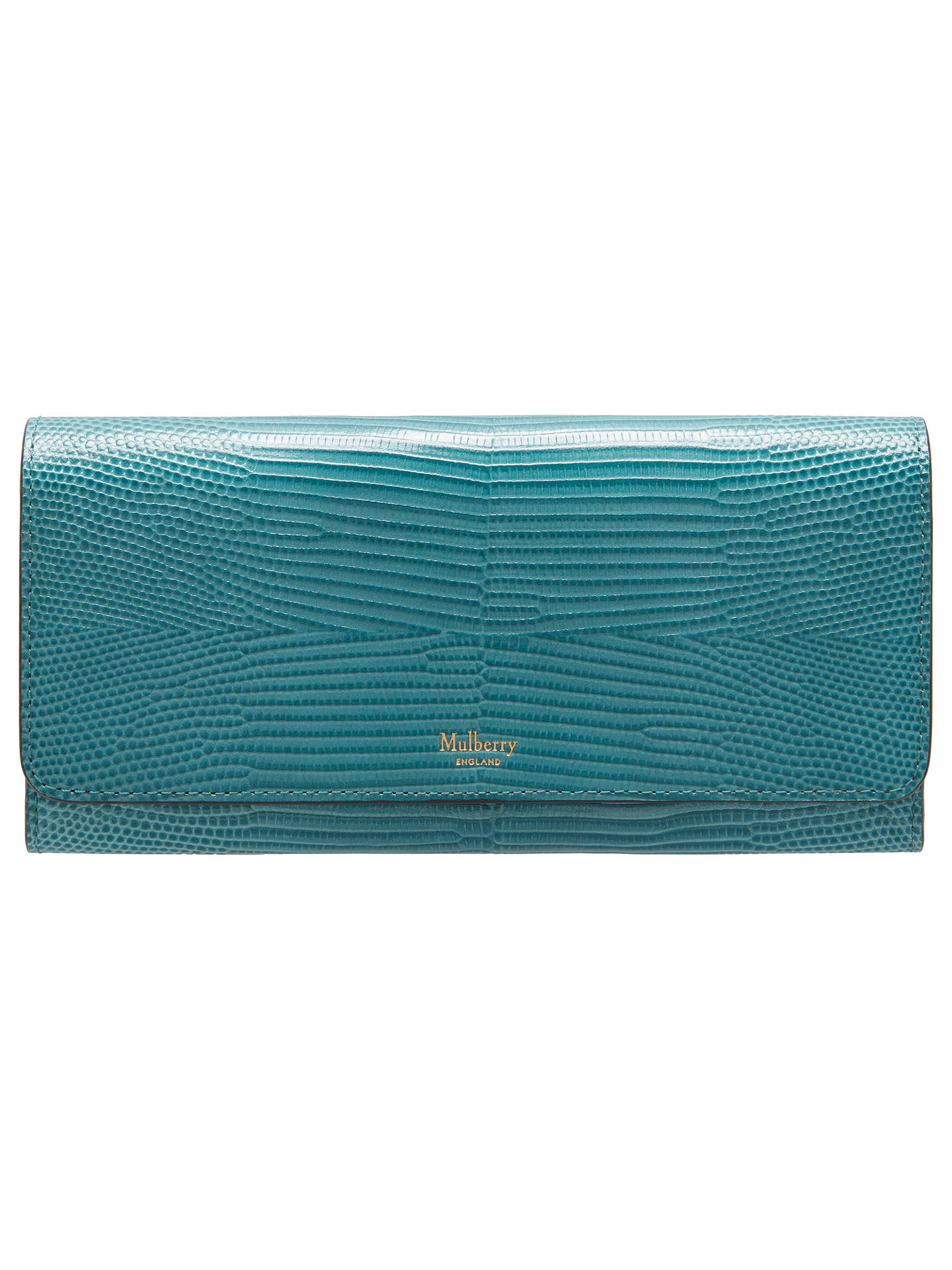 0ed8ebc0631f24 Buy Mulberry Continental Embossed Lizard Leather Purse, Frozen Online at  johnlewis.com ...