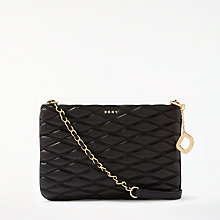 Buy DKNY Nappa Leather Quilted Cross Body Bag, Black Online at johnlewis.com