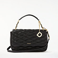 Buy DKNY Nappa Leather Quilted Medium Shoulder Bag, Black Online at johnlewis.com