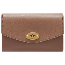 Buy Mulberry Darley Small Classic Grain Leather Wallet, Dark Blush Online at johnlewis.com