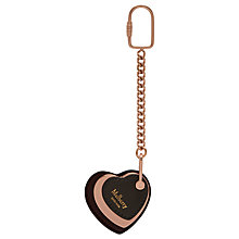 Buy Mulberry Heart Leather Keyring, Burgundy Online at johnlewis.com