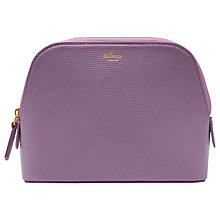 Buy Mulberry Cross Grain Leather Cosmetic Pouch, Lilac Online at johnlewis.com