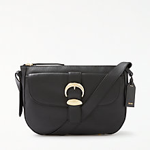 Buy DKNY Pebbled Leather Small Hobo Bag, Black Online at johnlewis.com
