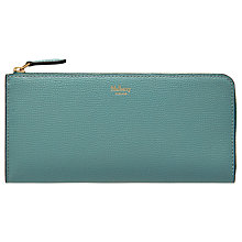 Buy Mulberry Small Classic Grain Leather Long Part Zip Purse Online at johnlewis.com