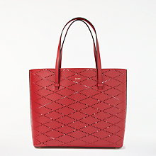 Buy DKNY SS18 Small Leather Tote Bag, Scarlet Online at johnlewis.com