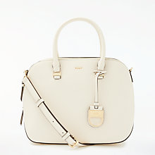 Buy DKNY SS18 Medium Leather Satchel, Ivory Online at johnlewis.com