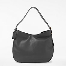 Buy DKNY Pebbled Leather Medium Hobo Bag, Black Online at johnlewis.com