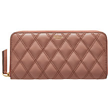 Buy Mulberry Zip Around Leather Quilted Purse Online at johnlewis.com