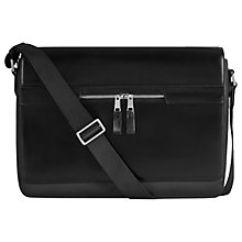 Buy Reiss Marshall Messenger Bag, Black Online at johnlewis.com