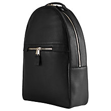 Buy Reiss Huntington Textured Leather Backpack, Black Online at johnlewis.com
