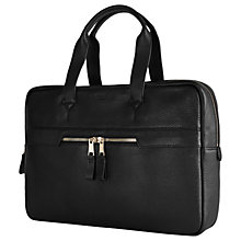 Buy Reiss Lindberg Leather Briefcase, Black Online at johnlewis.com