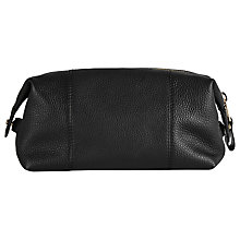Buy Reiss Wellington Leather Wash Bag, Black Online at johnlewis.com