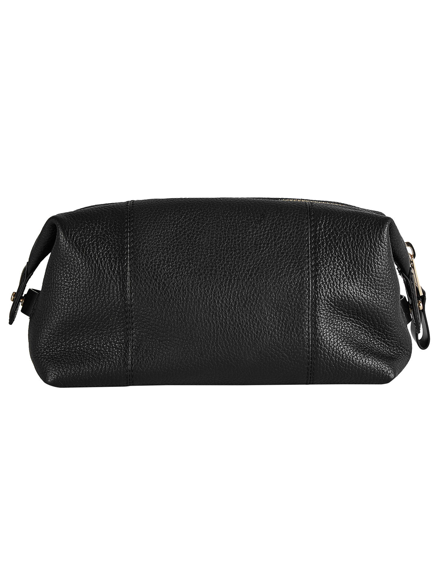 BuyReiss Wellington Leather Wash Bag, Black Online at johnlewis.com