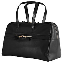 Buy Reiss Bournemouth Leather Duffle Bag, Black Online at johnlewis.com