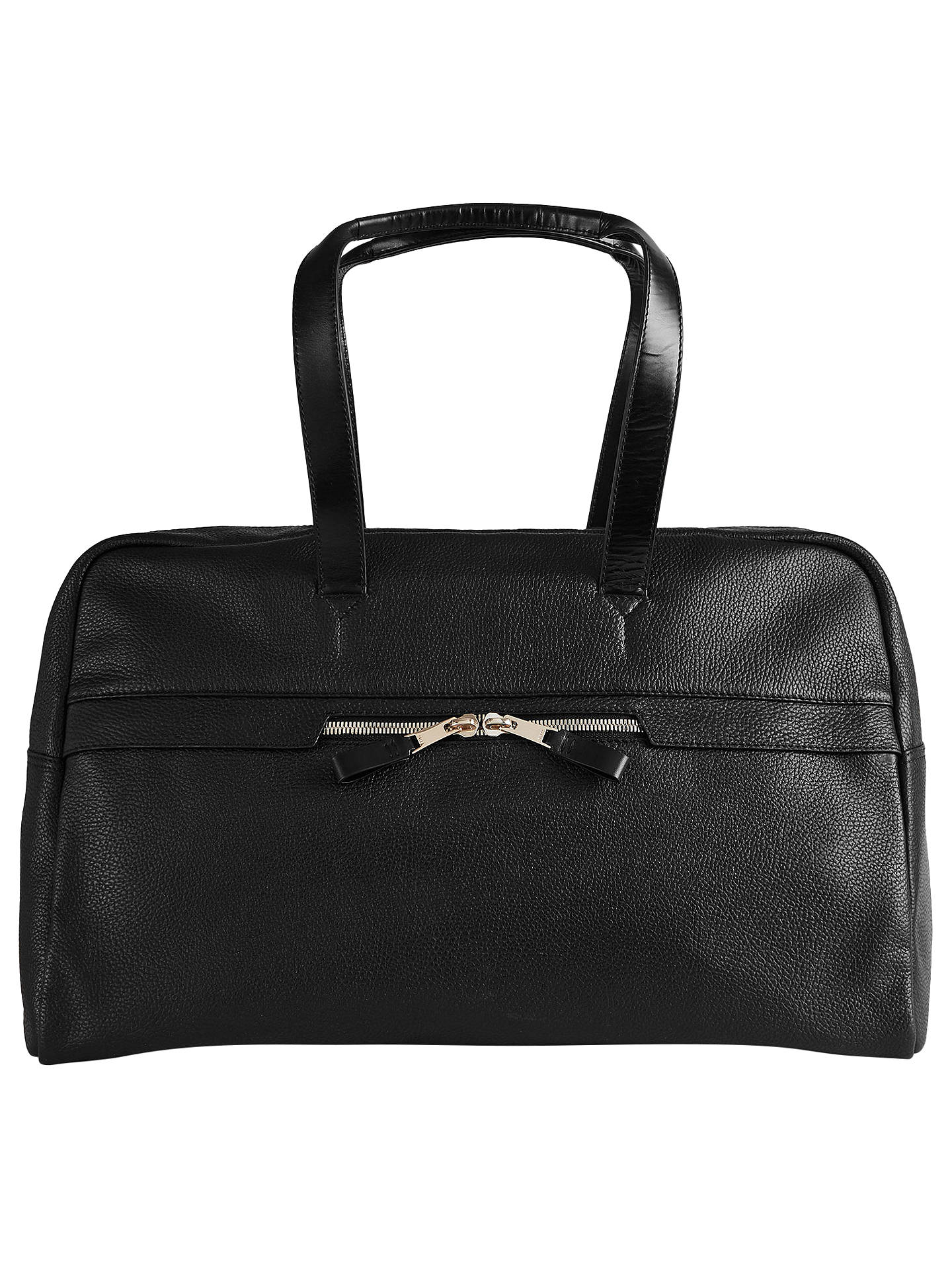 BuyReiss Bournemouth Leather Duffle Bag, Black Online at johnlewis.com
