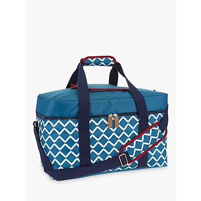 John Lewis Fusion Geo Family Picnic Cooler Bag, Teal, 30L