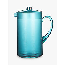Buy John Lewis Fusion Plastic Jug with Lid, Teal Online at johnlewis.com