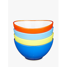 Buy John Lewis Poolside Waves Plastic Bowls, Dia.14cm, Assorted, Set of 4 Online at johnlewis.com