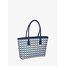 Buy John Lewis Poolside Party Weave Cooler Bag, Blue/Multi, 12L Online at johnlewis.com