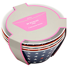 Buy Joules Seaside Melamine Picnic Bowls, Dia.15cm, Assorted, Set of 4 Online at johnlewis.com