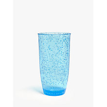 Buy John Lewis Poolside Bubble Plastic Highball, Blue Online at johnlewis.com