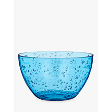 Buy John Lewis Poolside Bubble Picnic Bowl, Dia.14.3cm, Blue Online at johnlewis.com