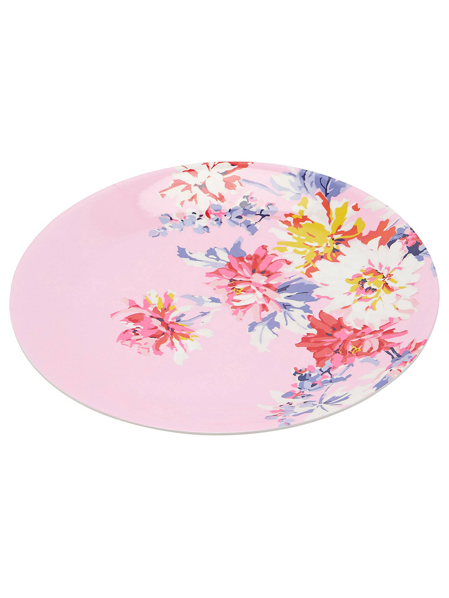 Joules Whitstable Floral Melamine Picnic Plates, Dia 28 5cm, Assorted, Set  of 4