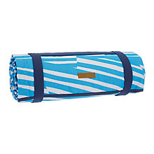 Buy John Lewis Poolside Striped Picnic Rug, Blue/White Online at johnlewis.com