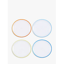 Buy John Lewis Poolside Waves Plastic Plates, Dia.23.5cm, Assorted, Set of 4 Online at johnlewis.com