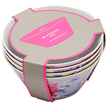 Buy Joules Whitstable Floral Melamine Picnic Bowls, Dia.15cm, Assorted, Set of 4 Online at johnlewis.com