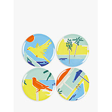 Buy John Lewis Poolside Vibes Melamine Plates, Dia.20cm, Assorted, Set of 4 Online at johnlewis.com