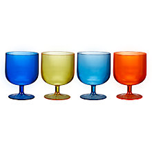Buy John Lewis Poolside Picnic Stacking Plastic Wine Glasses, 175ml, Assorted, Set of 4 Online at johnlewis.com