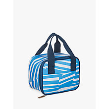 Buy John Lewis Poolside Personal Cooler Bag, Blue/White, 4L Online at johnlewis.com
