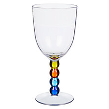 Buy John Lewis Poolside Bubble Stem Picnic Wine Glass, Clear/Multi, 175ml Online at johnlewis.com