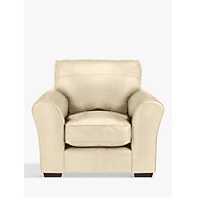 Buy John Lewis Leon Leather Armchair, Dark Leg, Contempo Ivory Online at johnlewis.com
