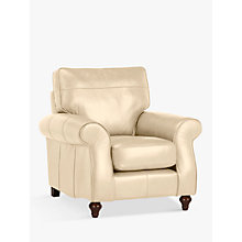Buy John Lewis Hannah Leather Armchair, Dark Leg, Contempo Ivory Online at johnlewis.com