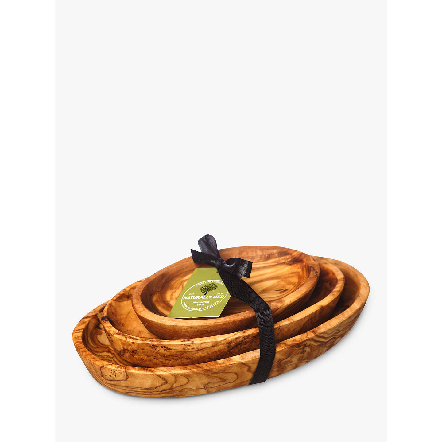 BuyJust Slate Olive Wood Stacking Bowl Set, Set of 3 Online at johnlewis.com