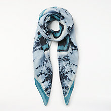 Buy Unmade Tie Dye Silk Scarf, Turquoise Online at johnlewis.com