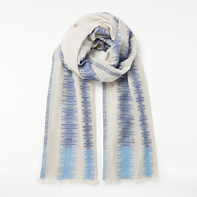 Unmade Sheila Abstract Print Scarf, Sky Blue