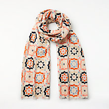 Buy Unmade Telis Abstract Pattern Cotton Scarf Online at johnlewis.com