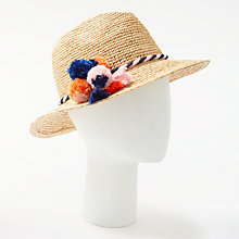Buy Unmade Raffia Trilby Hat, Natural Mix Online at johnlewis.com