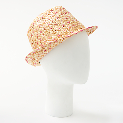 Unmade Wombat Raffia Trilby Hat, Natural/Gum