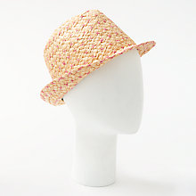 Buy Unmade Wombat Raffia Trilby Hat, Natural/Gum Online at johnlewis.com