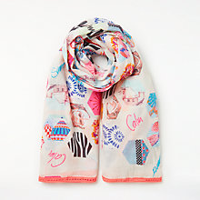Buy Unmade Summer Square Cotton Scarf, White/Multi Online at johnlewis.com